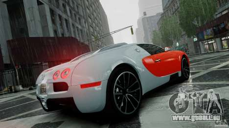 Bugatti Veyron 16.4 v1.0 wheel 1 pour GTA 4 vue de dessus