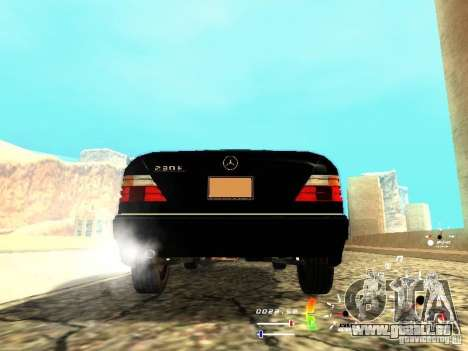 Mercedes-Benz 230E für GTA San Andreas zurück linke Ansicht