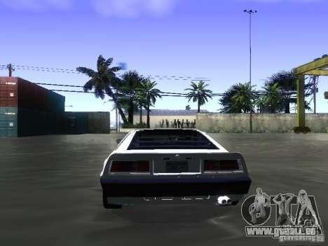 Lotus Esprit Turbo pour GTA San Andreas vue intérieure
