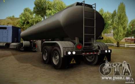 Caravane de Mack Pinnacle Rawhide Edition pour GTA San Andreas laissé vue