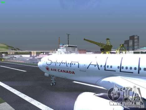 Airbus A330-300 Air Canada pour GTA San Andreas vue intérieure