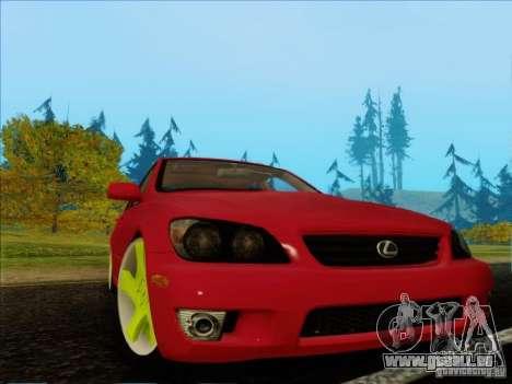 Lexus IS300 Edit pour GTA San Andreas laissé vue