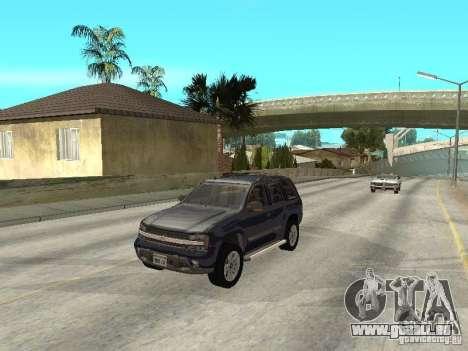 Chevrolet TrailBlazer 2003 pour GTA San Andreas vue intérieure