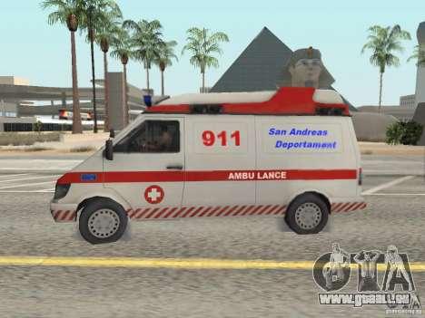 Ford Transit Ambulance pour GTA San Andreas laissé vue