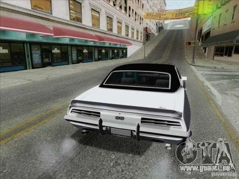 Chevrolet Camaro SS 1969 pour GTA San Andreas sur la vue arrière gauche