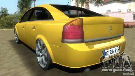 Opel Vectra pour une vue GTA Vice City de la droite