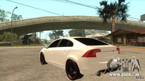 Volvo S60 für GTA San Andreas zurück linke Ansicht