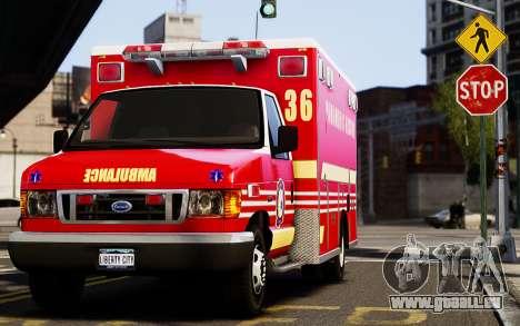 Ford Econoline E350 Ambulance pour GTA 4 est une gauche