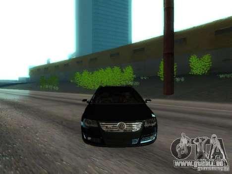 Volkswagen Passat B6 Variant Com Bentley 20 Fixa pour GTA San Andreas vue de dessus