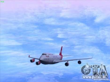 Boeing 747-4Q8 Lady Penelope für GTA San Andreas zurück linke Ansicht