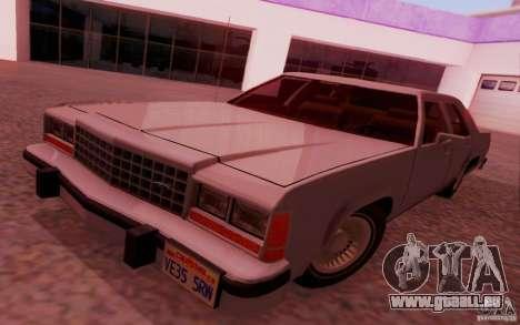 Ford Crown  Victoria LTD 1985 pour GTA San Andreas sur la vue arrière gauche