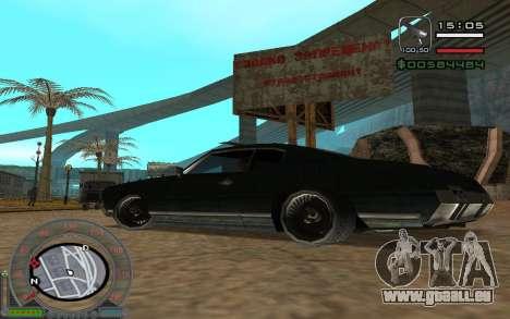 New Sabre pour GTA San Andreas vue intérieure