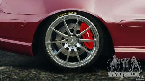 Mercedes-Benz CLK 63 AMG pour GTA 4 vue de dessus
