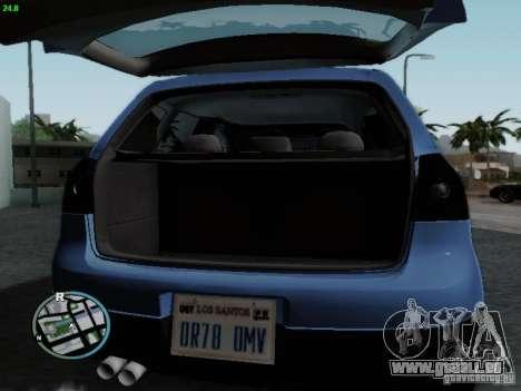 Volkswagen Golf V R32 Black edition für GTA San Andreas Innenansicht