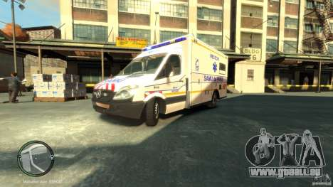 Mercedes-Benz Sprinter Ambulance für GTA 4 linke Ansicht