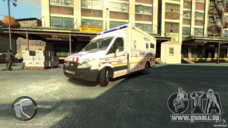 Mercedes-Benz Sprinter Ambulance pour GTA 4 est une gauche