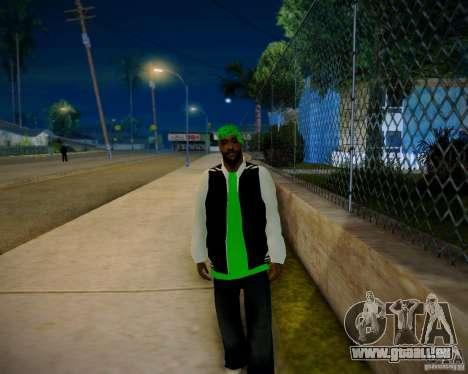 Skins pack gang Grove pour GTA San Andreas quatrième écran
