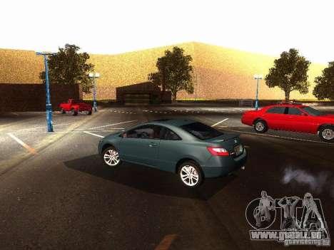 Honda Civic Si 2007 pour GTA San Andreas sur la vue arrière gauche