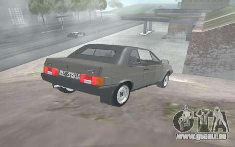 VAZ 2108 Natasha pour GTA San Andreas sur la vue arrière gauche
