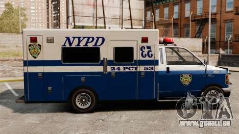 Neue van-Polizei für GTA 4 linke Ansicht