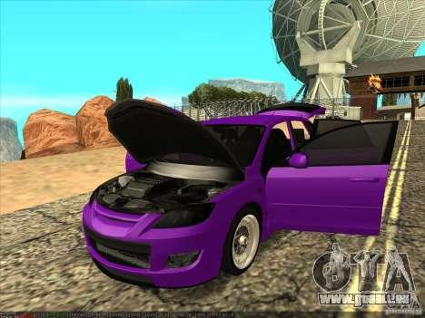 Mazda Speed 3 Stance pour GTA San Andreas vue arrière