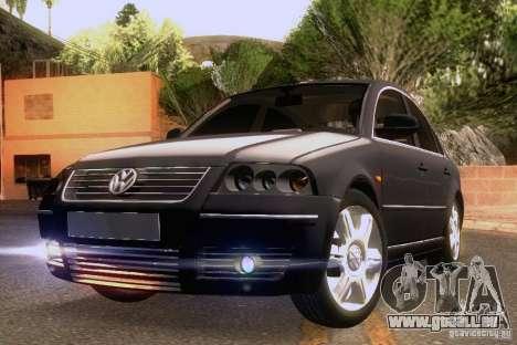 Volkswagen Passat B5+ pour GTA San Andreas vue de dessous
