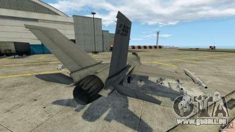 Fighterjet für GTA 4 hinten links Ansicht