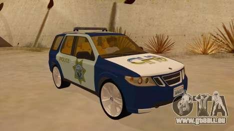 Saab 9-7X Police pour GTA San Andreas vue arrière