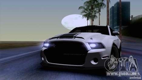 Ford Shelby GT500 Super Snake pour GTA San Andreas vue intérieure