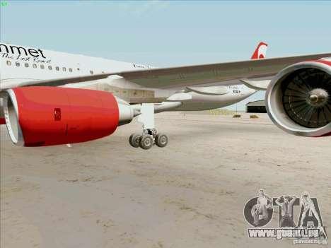 Airbus A-340-600 Plummet pour GTA San Andreas vue intérieure