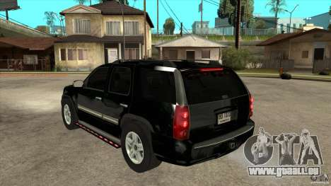GMC Yukon Unmarked FBI pour GTA San Andreas sur la vue arrière gauche