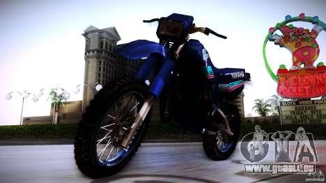 Yamaha DT 180 pour GTA San Andreas laissé vue