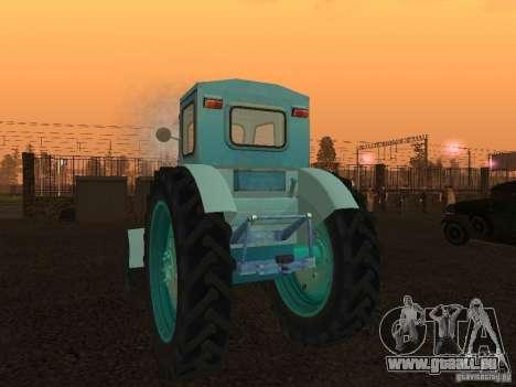 Tracteur T-40 m pour GTA San Andreas sur la vue arrière gauche