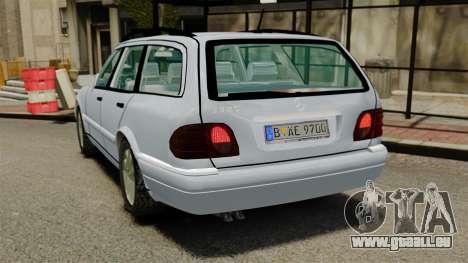 Mercedes-Benz W210 Wagon pour GTA 4 Vue arrière de la gauche