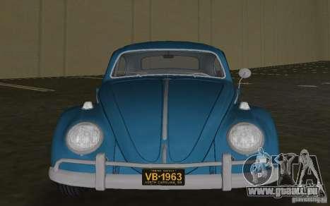 Volkswagen Beetle 1963 pour une vue GTA Vice City de la gauche
