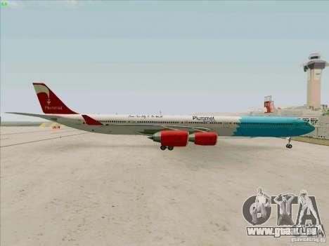 Airbus A-340-600 Plummet pour GTA San Andreas vue de droite