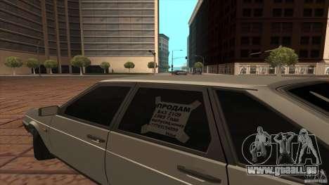 VAZ 2109 Drain pour GTA San Andreas vue de droite