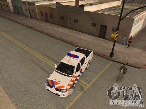 Mitsubishi L200 Police für GTA San Andreas rechten Ansicht