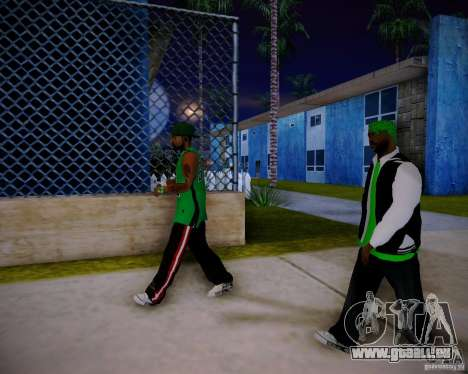 Skins pack gang Grove für GTA San Andreas siebten Screenshot
