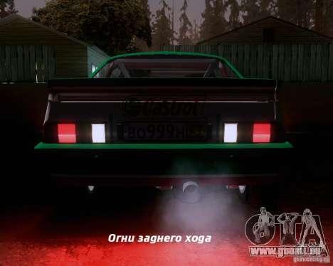Opel Manta 400 für GTA San Andreas Innen