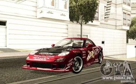 Mazda RX-7 C-West für GTA San Andreas Rückansicht