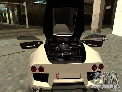 Noble M600 pour GTA San Andreas vue arrière