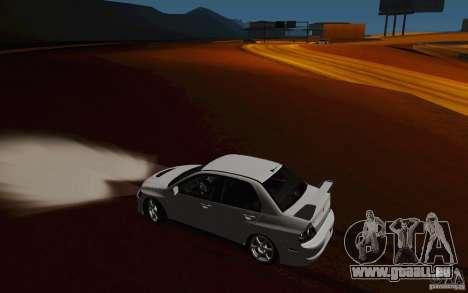 Mitsubishi Lancer Evo VIII GSR pour GTA San Andreas vue de côté