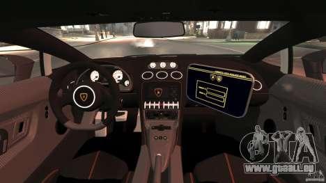 Lamborghini Gallardo LP570-4 Superleggera Police pour GTA 4 Vue arrière