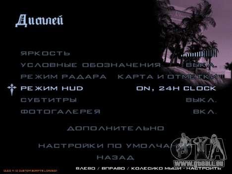 format 12/24 heures pour GTA San Andreas deuxième écran
