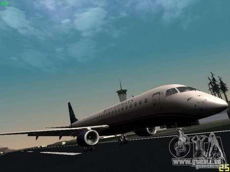 Embraer ERJ 190 USAirways für GTA San Andreas linke Ansicht