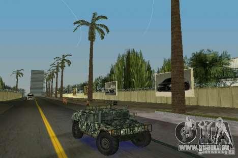 Hummer HMMWV M-998 1984 pour GTA Vice City vue arrière