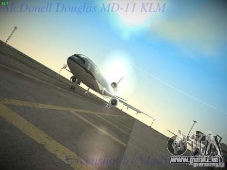 McDonnell Douglas MD-11 KLM Royal Dutch Airlines pour GTA San Andreas vue de côté