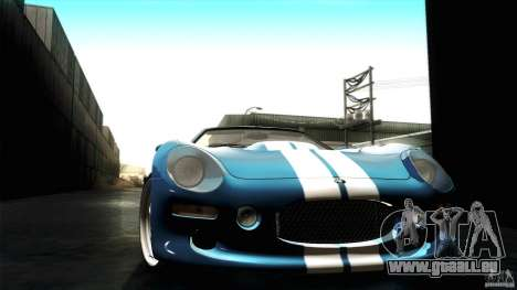 Shelby Series 1 1999 pour GTA San Andreas vue intérieure