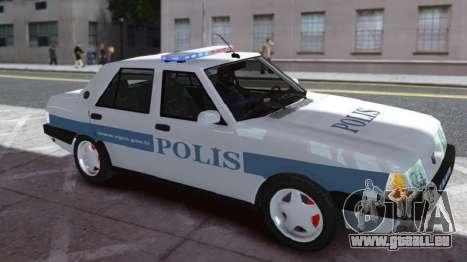 Tofas Sahin Turkish Police ELS für GTA 4 linke Ansicht
